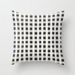 geo brush square Throw Pillow