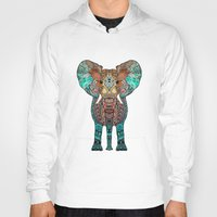 orange Hoodies featuring ElePHANT by Monika Strigel