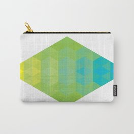 Yellow Cyan Diamond Gradient Carry-All Pouch