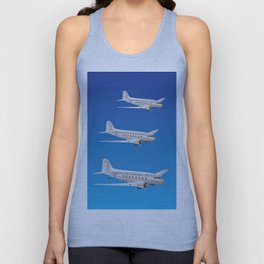 Airplane 3 DC-3s Unisex Tank Top