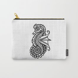 Steampunk Seahorse Stencil Carry-All Pouch
