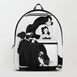 Black and White Chicken Lady Backpack