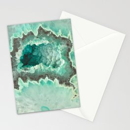 Minty Geode Crystals Stationery Cards