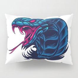 King Cobra Snake Wild Beast Illustration Pillow Sham
