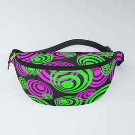 Neon Green and Pink Circles Fanny Pack