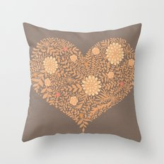 HEART ABSTRACT Throw Pillow