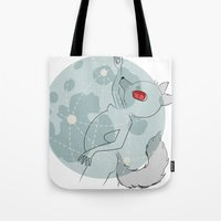 werewolf Tote Bags featuring Werewolf by tarolime