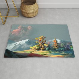 Little Forest On Mountain Top Ultra HD Rug