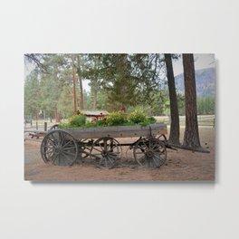 Wagon of Flowers Metal Print