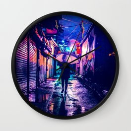 Colorful Seoul Wall Clock