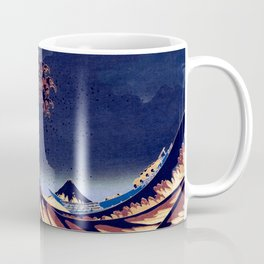 The Great Wave Off Kanagawa Inverted Katsushika Hokusai Coffee Mug