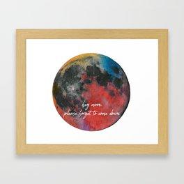 hey moon Framed Art Print