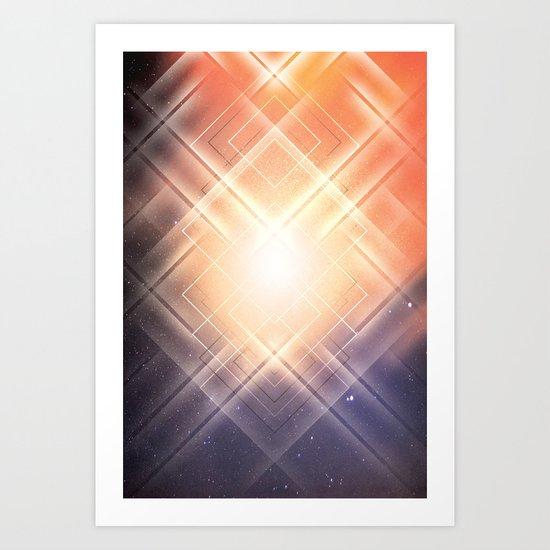 Space Lights Art Print