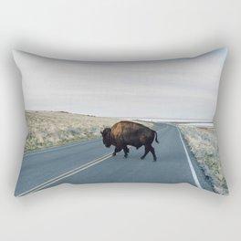 Buffalo Crossing Rectangular Pillow