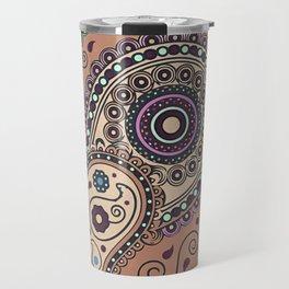 African pattern No3 Brown Travel Mug