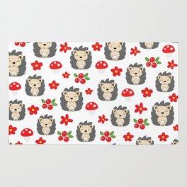 Cute hedgehogs Rug
