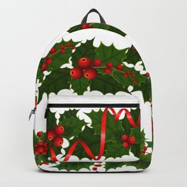 Christmas holly decoration Backpack
