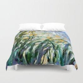 "Claude Monet ""Yellow Irises and Malva"", 1914 - 1917 Duvet Cover"