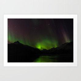 Northern Lights in Norway 01 Art Print