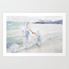 On the Shore: Thetis and Achilles Art Print