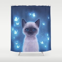 Siamese kitten Shower Curtain