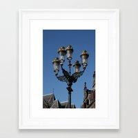 lantern Framed Art Prints featuring Lantern by constarlation
