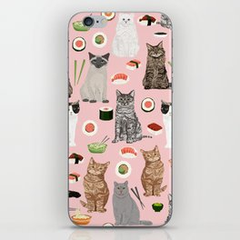 Cat breeds pure bred cats sushi kawaii pet gifts cat person must haves iPhone Skin