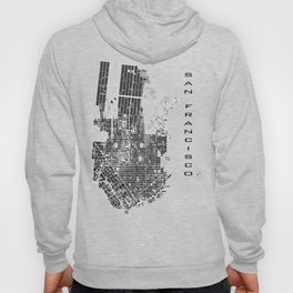 San Francisco city map classic Hoody