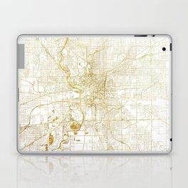 Indianapolis Map Gold Laptop & iPad Skin