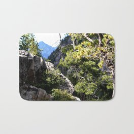Clinging to the Brink over Vallecito Creek Bath Mat