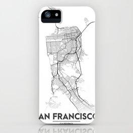 Minimal City Maps - Map Of San Francisco, California, United States iPhone Case