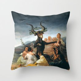 THE SABBATH OF THE WITCHES - GOYA Throw Pillow