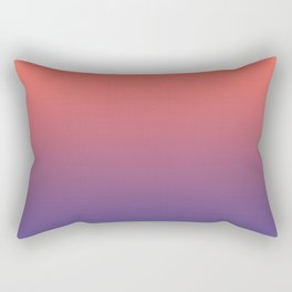 Living Coral Ultra Violet Gradient Pattern Rectangular Pillow