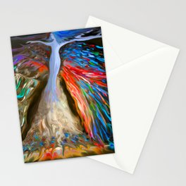 Mother Nature in Sea Blue Stationery Cards