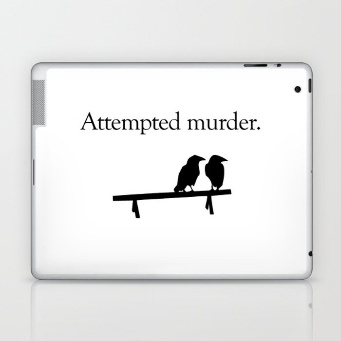 Attempted Murder Laptop & iPad Skin