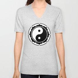 Yin Yang Lotus Unisex V-Neck