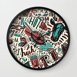 ChiliPot Pattern 1 Wall Clock