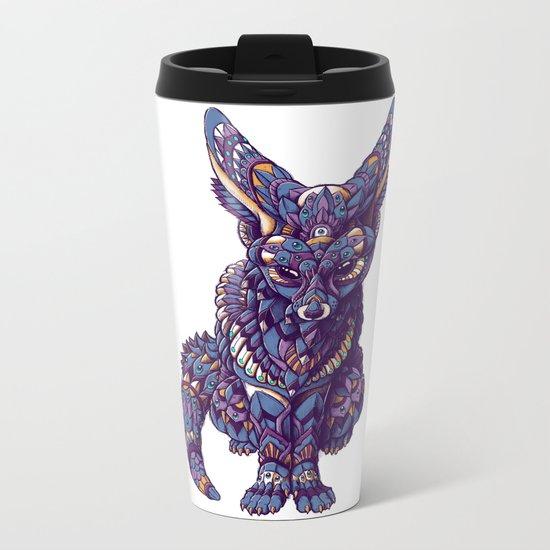 Fennec Fox (Color Version) Metal Travel Mug