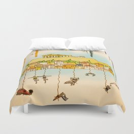 Rainbow Cities ~ Athens Duvet Cover