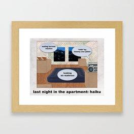 Last Night in the Apartment: Haiku Framed Art Print