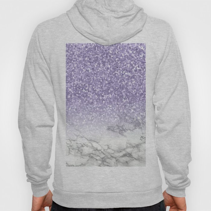 Unicorn Purple Glitter Marble Hoody