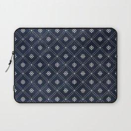 Blue Indigo Pattern Laptop Sleeve