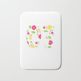 """A Birthday Tee For 16th Birthday """"Made In 03 16 Years Of Being Awesome"""" T-shirt Design Natal Flower Bath Mat"""