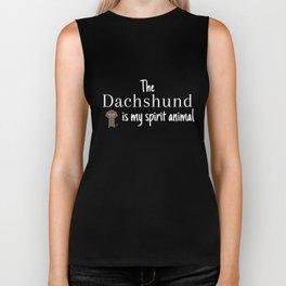 The Dachshund Is My Spirit Animal Biker Tank