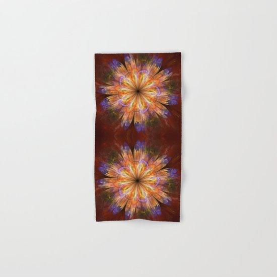 Artistic fantasy flower in summer colors Hand & Bath Towel