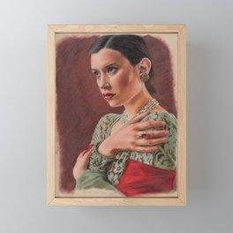 portrait Drawing Framed Mini Art Print