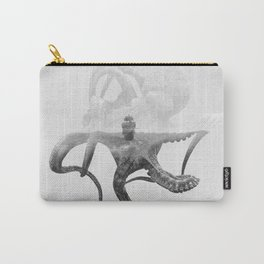 Octopus Vulgaris (Octopus & Ship) BW Carry-All Pouch