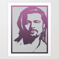 brad pitt Art Prints featuring Brad Pitt by Dora Birgis