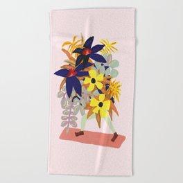 Floral Yoga Babe Beach Towel