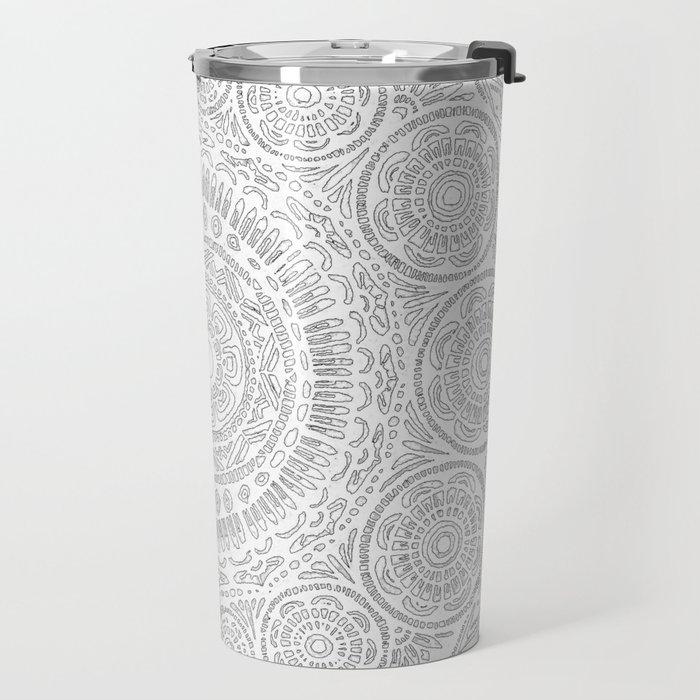 Untitled II (white on white) Travel Mug